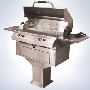 pedestal electric grill